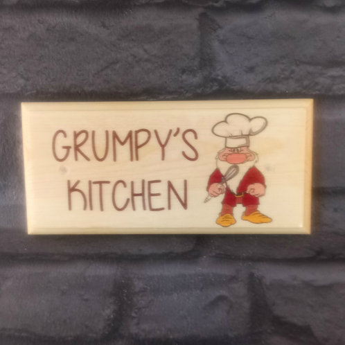 Grumpys Kitchen Sign