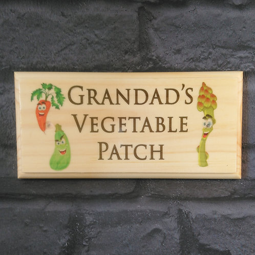 Grandad's Vegetable Patch Sign - Allotment Plaque