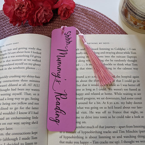 Shhh... Mummy's Reading Bookmark