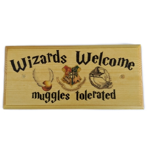 Wizards Welcome Sign, Muggles Tolerated