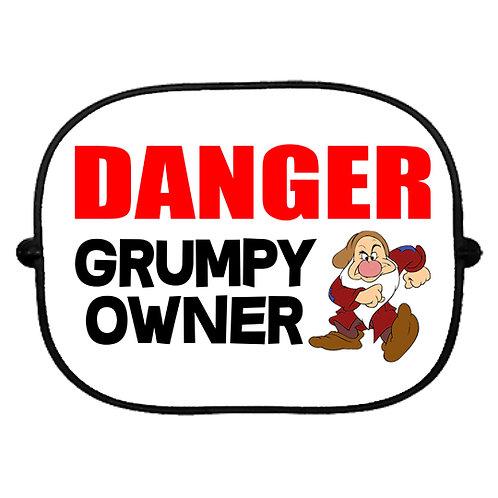 Danger! Grumpy Owner Car Sun Shade