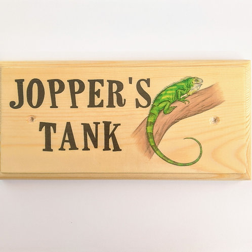 Personalised Lizard Tank Sign