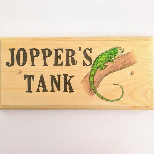 Personalised Lizard Tank Sign