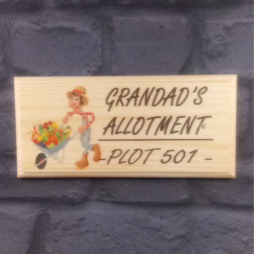 Personalised Allotment Sign - Plot Number Plaque