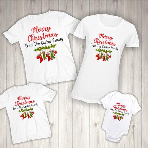 Custom Merry Christmas Family T-Shirts