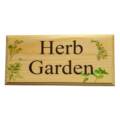 Personalised Herb Garden Sign