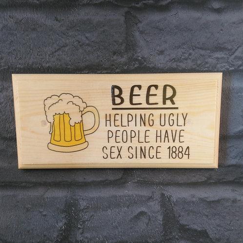 Beer Sign - Man Cave Beer Plaque