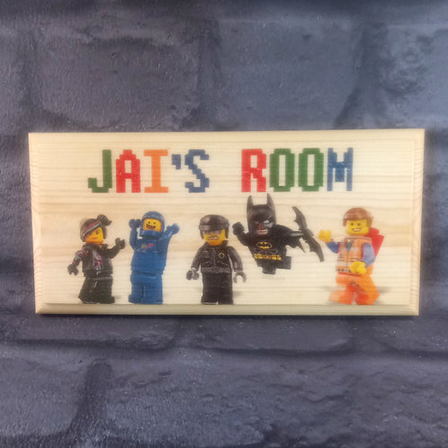 Personalised Lego Bedroom Sign