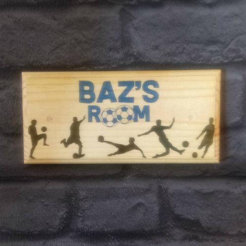 Personalised Football Bedroom Door Sign
