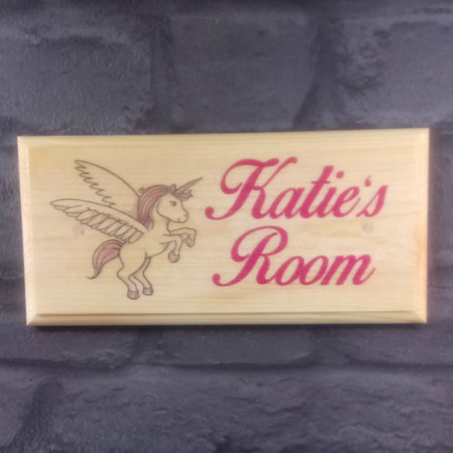 Custom Unicorn Childrens Bedroom Door Sign