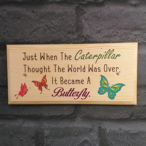 Caterpillar Quote - Gardening Gifts