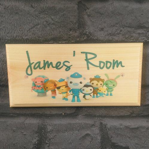 Personalised Octonauts Bedroom Door Sign