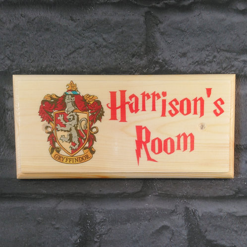 Personalised Gryffindor Room Sign
