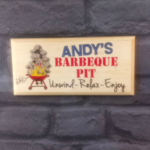 Personalised BBQ Pit Sign