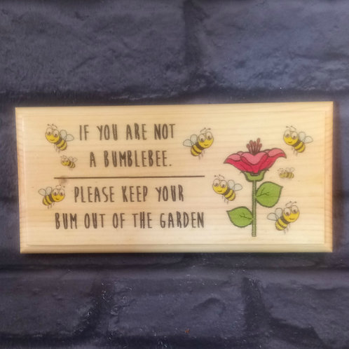 Bumblebee Garden Sign