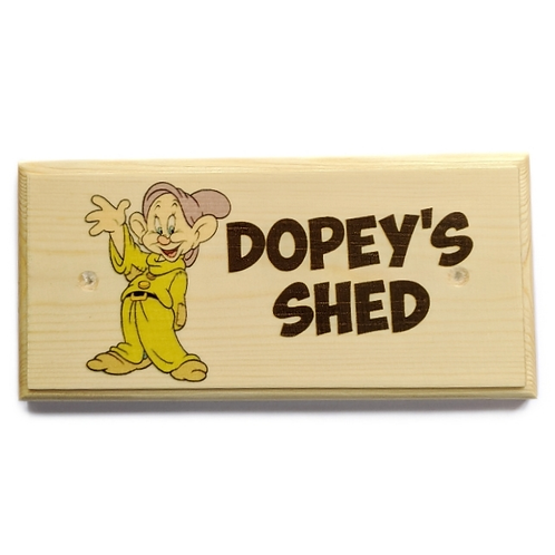 Dopey's Shed Sign