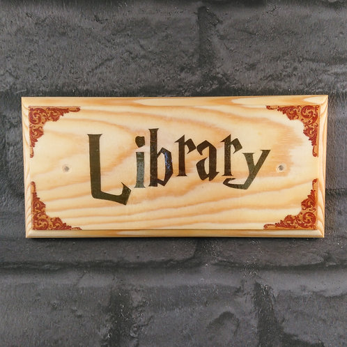 Library Sign - Harry Potter Inspired Library Plaque