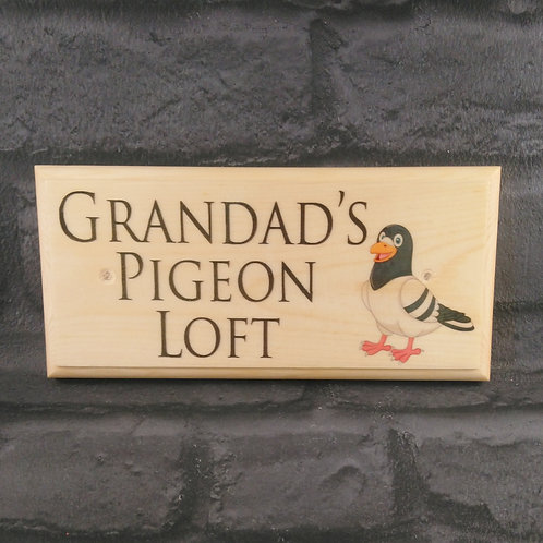 Grandads Pigeon Loft Sign - Aviary Sign - Bird Shed Plaque