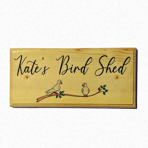 Personalised Bird Shed Sign