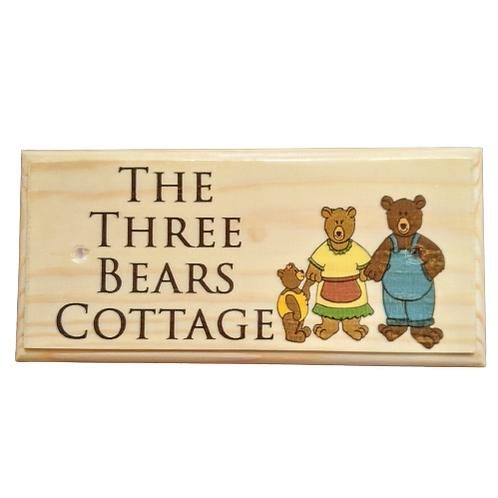 Personalised Three Bears Sign