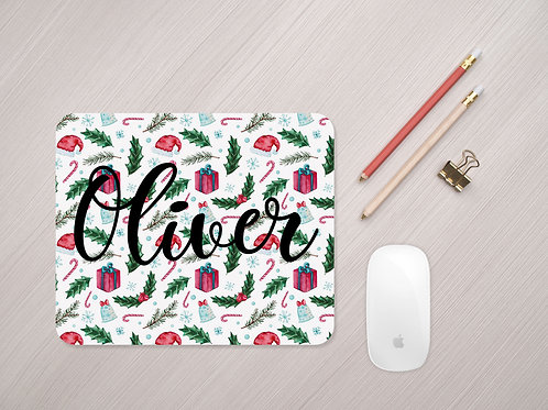 Personalised Christmas Mouse Mat