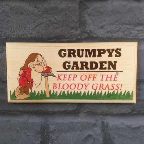 Grumpys Garden Sign - Keep Off The Bloody Grass