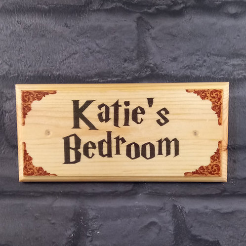 Custom Harry Potter Bedroom Door Sign