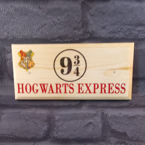 Hogwarts Express - Harry Potter Sign