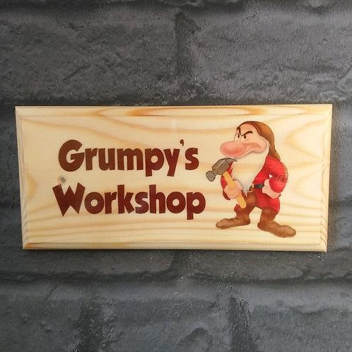 Grumpys Workshop Sign - Grandads Shed Plaque