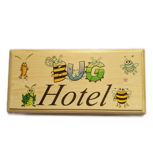 Bug Hotel Sign, Insect House Garden Plaque