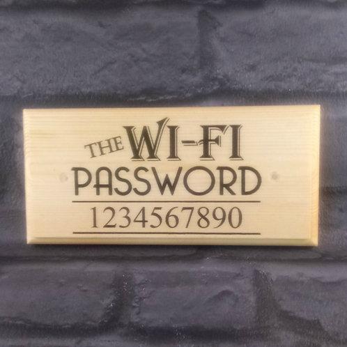 Custom Wi-Fi Password Sign