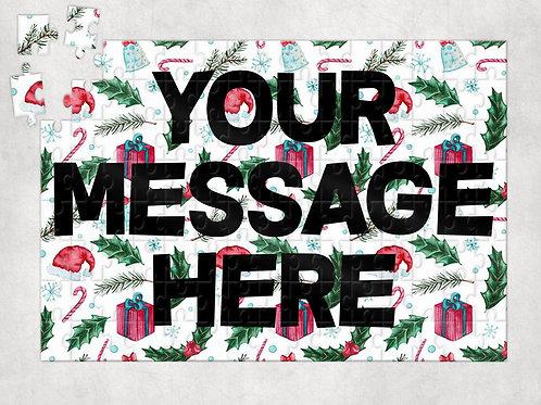 Custom Text - Christmas Jigsaw Puzzle
