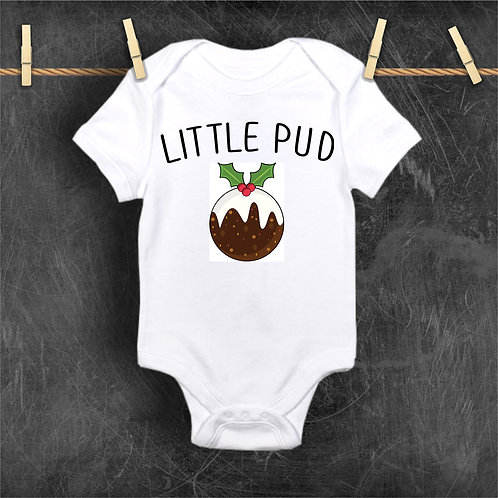 Little Pud Christmas Bodysuit