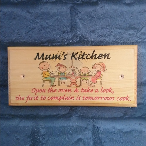 Mums Kitchen Sign