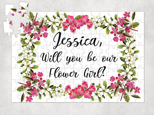 Will You Be Our Flower Girl? - Personalised Jigsaw Puzzle