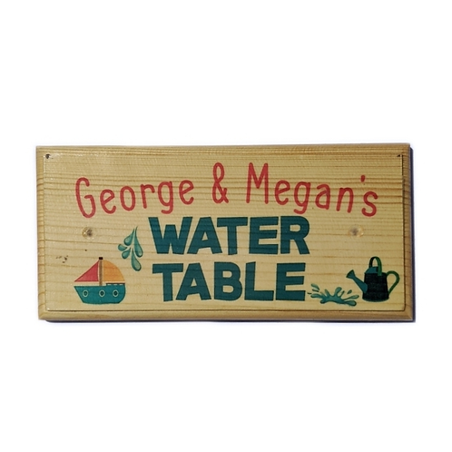 Personalised Childrens Water Table Sign