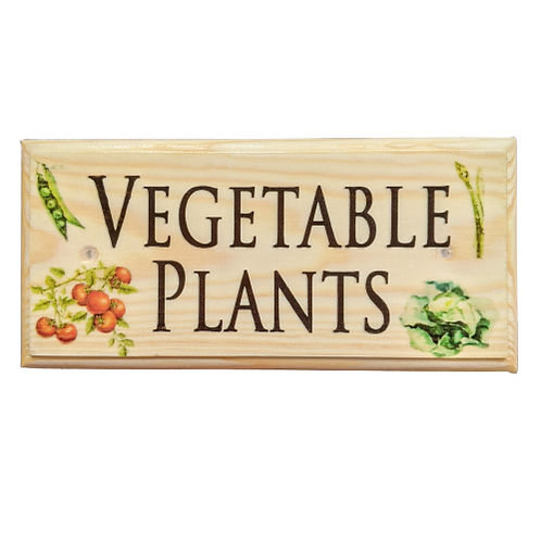 Vegetable Plants Sign