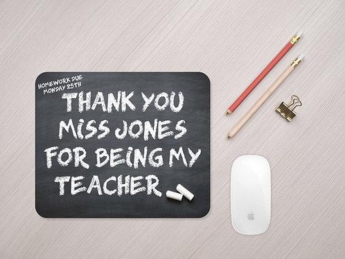Thank You Teacher Mouse Mat