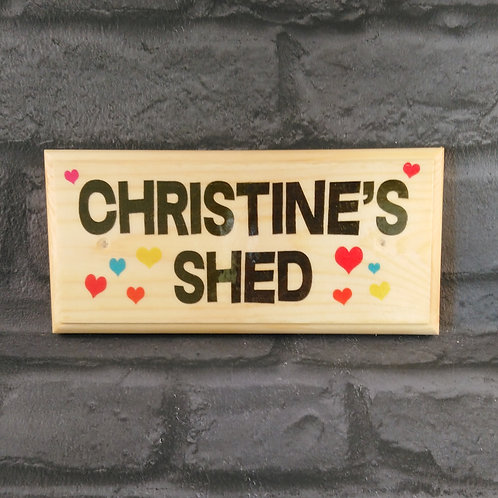 Personalised Ladies Shed Sign