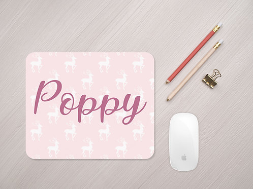 Personalised Reindeer Silhouette Mouse Mat