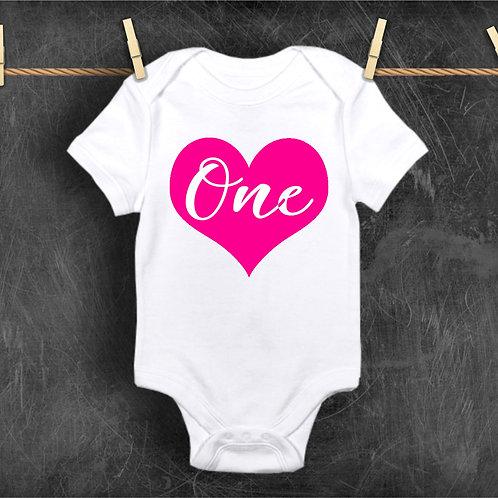 ONE Bodysuit - First Birthday Baby Vest