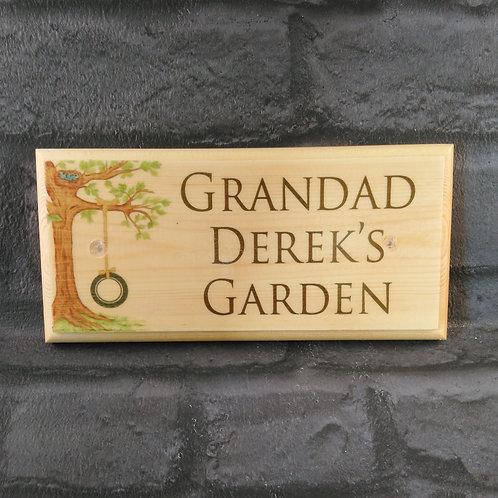 Personalised Grandad's Garden Sign