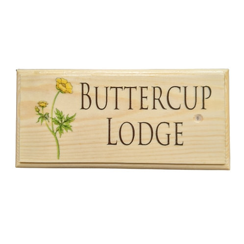 Personalised Buttercup House Name Sign
