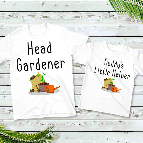 Head Gardener & Daddy's Little Helper Matching T-Shirts