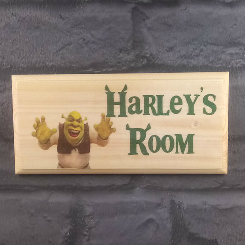Personalised Shrek Bedroom Sign