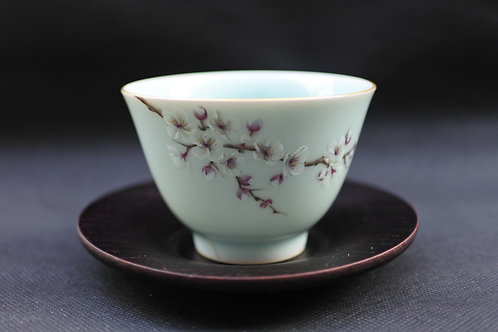 Celadon Plum blossom, Tea bowl