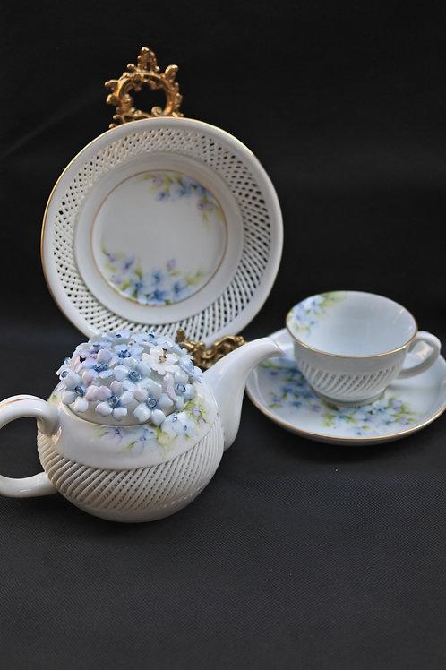 Star flower tea set