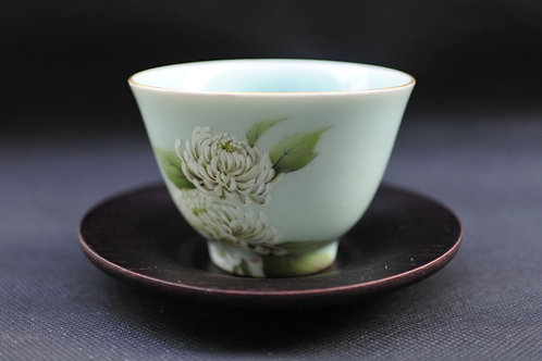Celadon Chrysanthemum, Tea bowl