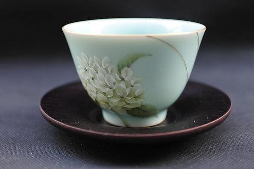 Celadon Hydrangea, Tea bowl