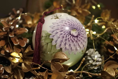 Christmas Ornament Violet x Mint green